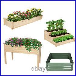 VILOBOS Garden Plant Bed Kit Raised Elevated Planter Box Vegetable Flower Herb
