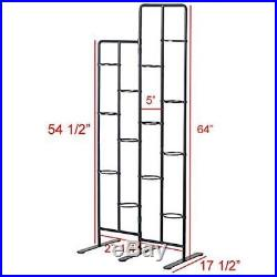 Vertical Metal Plant Stand 13 Tiers Display Plants Indoor or Outdoors on a