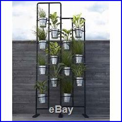 Vertical Metal Plant Stand 13 Tiers Display Plants Indoor or Outdoors on a Ba
