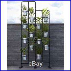 Vertical Metal Plant Stand 13 Tiers Display Plants Indoor or Outdoors on a Balco