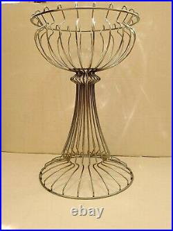 Vintage 1960's Chrome Metal Wire Plant Stand Russell Woodard Mid Century Modern
