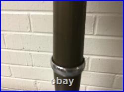 Vintage Art Deco Chrome Metal Floor Ashtray Smoking Stand Push Button Works Look