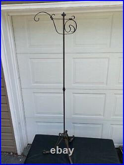 Vintage Brass Metal Iron Butler Suit Stand Coat Clothes Plant Hanger Rare OLD