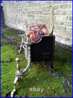 Vintage Free Standing Imperial Works Electric Fire With Glass Coals