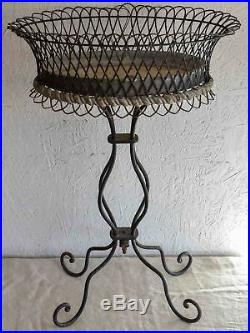 Vintage French garden pot plant stand