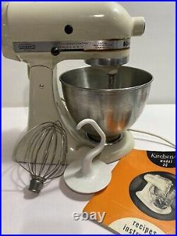 Vintage KitchenAid Hobart 4.5 Quart Classic Stand Mixer K45SS Attachments Works