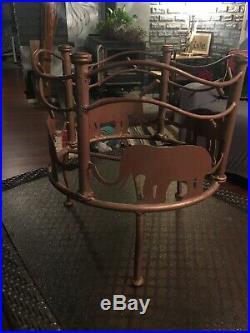 Vintage Large Round Flower Pot Plant Holder Stand Floor 15 Wide Elephant