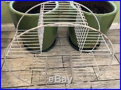 Vintage MCM ATOMIC 4 Tier Metal Round Plant Stand Super Original XLARGE Size