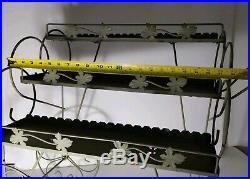 Vintage Metal Garden Plant Stand/Flower Cart (Planter) Hairpin Legs. Retro MCM