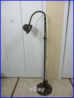 Vintage Metal Industrial Gooseneck Adjustable Standing Floor Lamp WORKS