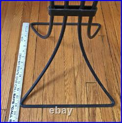 Vintage Metal Plant Stand with 4 Pots Mid Century / Art Deco Style