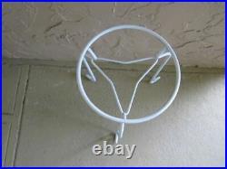 Vintage Metal Round Plant Holder White Salterini Style
