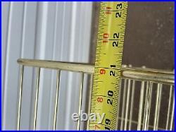 Vintage Mid Century Modern 3-Tier Wire Metal Plant Stand Bookshelf