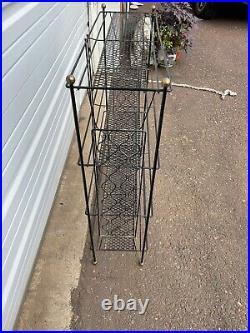 Vintage Mid Century Modern 4-Tier Wire Metal Plant Stand Bookshelf Black