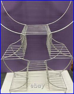 Vintage Mid Century Modern 9 Tier Wire Metal Atomic Plant Stand