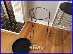 Vintage Mid Century Modern Hendyrx Floor Bird cage with iron legs/brass finial