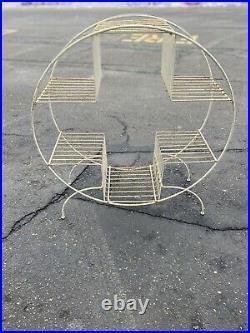 Vintage Mid Century Modern Wire Metal Atomic Plant Stand