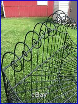 Vintage Plant Stand Scallop Detail Solid Iron Heavy Sturdy 46x26x12