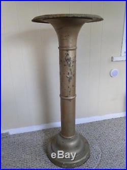 Vintage Victorian Iron & Metal Tall Plant Stand Pedestal