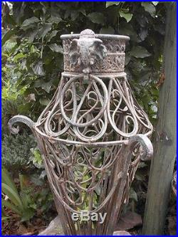 Vintage Victorian Style Ornate Wrought Plant Stand Or Cane Holder