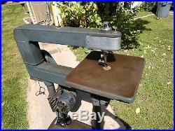 Vintage Wood Working Tool Industrial Craftsman 24 Jig Saw Model 10323440 Works