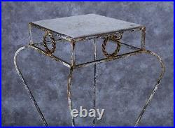 Vintage Wrought Iron Plant Stand 29 3/4 Tall