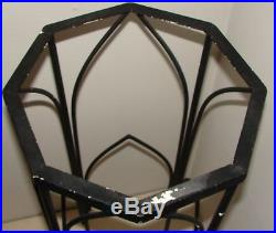 Vintage Wrought Iron Plant Stand with Gothic Cathedral Arch Arches 36 tall