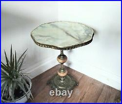 Vintage retro mid century onyx effect coffee side occasional table plant stand