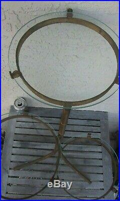 Vtg Faux Bamboo Gold Gilt Metal Plant Stand 25 H 10 Glass Shelf Free Ship