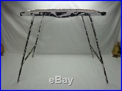 Vtg Mid Century Modern Metal Plant Stand Porch Patio Garden Art Side Table Paint