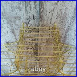 Vtg. Mid Century Modern Wire Metal Atomic Plant Stand Pagoda Holds 9 Plants