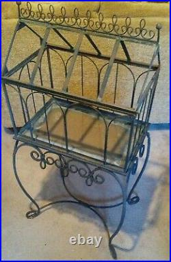 Wardian Victorian Plant Terrarium Freestanding Base and Box No Glass Hinged Top