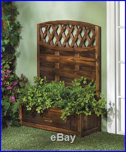 Wood Trellis Planter Box Plant Stand Display Flower Yard Garden WAREHOUSE SALE