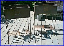 Wrought Iron Folding Spanish Mediterranean 2 Tier Metal Planter Plant Stand #2