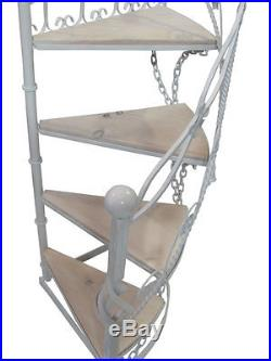 Wrought Iron Garden Staircase Library Spiral Stairs Wedding Shop Display Stairs
