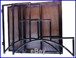 Wrought Iron Plant Stand 3 Tiered Folding Metal Outdoor Indoor Garden Pot