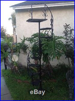 Wrought Iron Spiral Staircase Planters 10 Steps 82 Tall